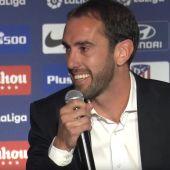 Diego Godín, en su despedida del Atlético