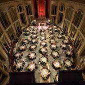 Cena de gala en la iglesia de Laboral Ciudad de la Cultura (Gijón)