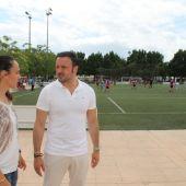 Llanos Trigueros y Pablo Ruz en la Ciudad Deportiva de Elche.