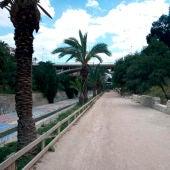 Ladera del río Vinalopó en Elche.