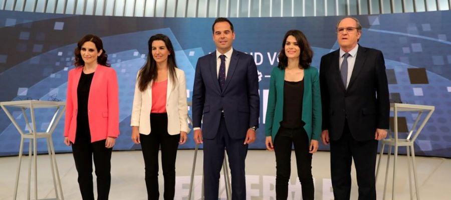 Díaz Ayuso, Monasterio, Aguado, Serra y Gabilondo en el debate de Telemadrid