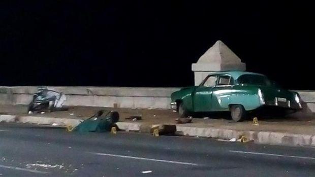 Cuatro muertos y más de 20 heridos en accidente en el Malecón de La Habana