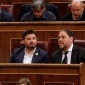 Junqueras y Rufián, en el Congreso