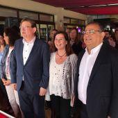 Ximo Puig, Francina Armengol y Alfonso Rodríguez en un acto de los socialistas en Calvià.