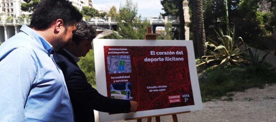 Presentación dle proyecto en la ladera del río de Ciudadanos Elche.