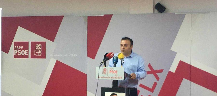 Tamón Abad, portavoz del Comité Electoral del PSOE de Elche.