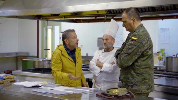 """La tele con Monegal: Un militar asegura a Chicote que """"nadie le querrá decir nada"""" en un nuevo 'Te lo vas a comer'"""