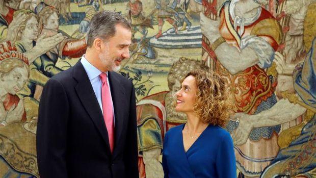 El Rey Felipe VI y la presidenta del Congreso, Meritxell Batet