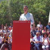 El presidente del Gobierno en funciones, Pedro Sánchez, durante un acto en Palma de Mallorca.