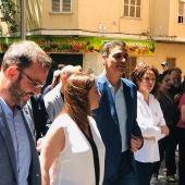 El presidente del Gobierno en funciones, Pedro Sánchez, en su visita a Palma