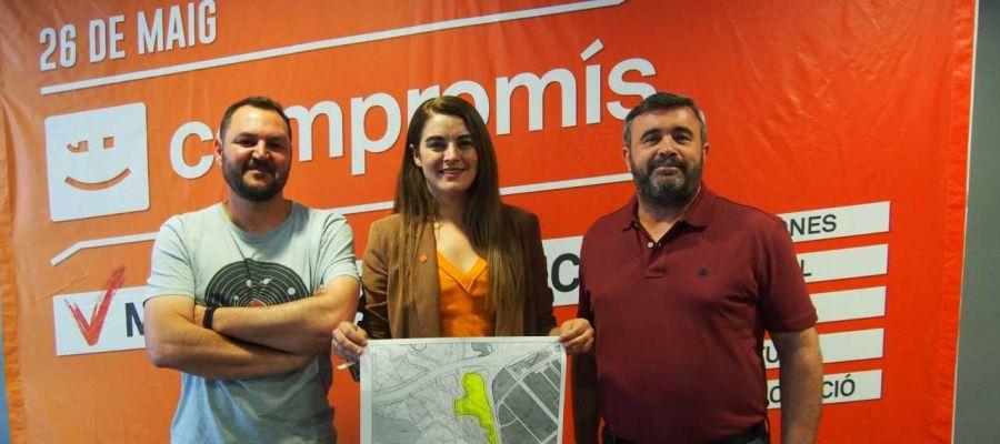 Alejandro Escalada, Mireia Mollà y José Manuel Penalva, alcaldables de Compromís.