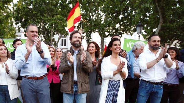 Rocío Monasterio y Ortega Smith piden el voto para frenar a la izquierda en Madrid