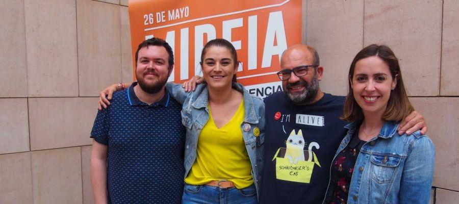 Antonio García, Mireia Mollà, Felip Sánchez y Esther Díez, candidatos de Compromís per Elx