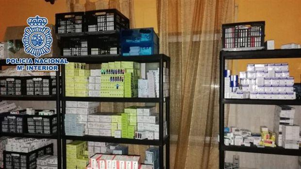 Intervienen 20 millones de dosis de medicinas ilegales y desarticulan la organización que las distribuía