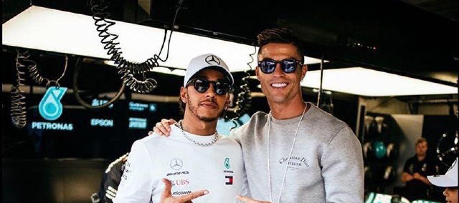 Lewis Hamilton y Cristiano Ronaldo