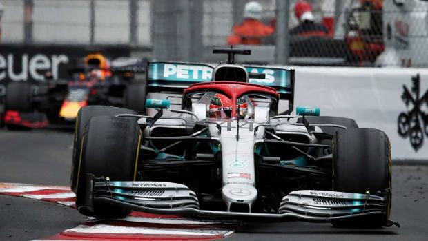 Lewis Hamilton, en acción en el trazado de Montecarlo