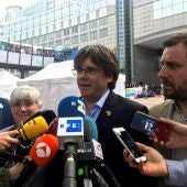 El expresidente de la Generalitat huido a Bélgica y cabeza de lista de JxCat al Parlamento Europeo, Carles Puigdemont