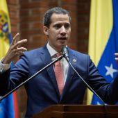 El jefe del Parlamento venezolano, Juan Guaidó