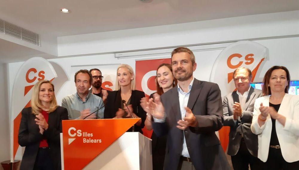 El líder de Ciudadanos en Baleares, Marc Pérez Ribas, tras conocer los resultados del 26-M.