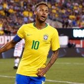 Neymar, durante un partido con Brasil