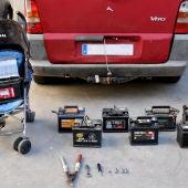 La policia pudo recuperar las baterías robadas