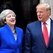 Donald Trump y Theresa May en Reino Unido