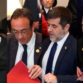 Oriol Junqueras, Jordi Sànchez, Josep Rull y Jordi Turull