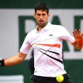 Novak Djokovic, durante un partido en Roland Garros