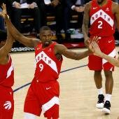 Ibaka, en el partido de los Toronto Raptors