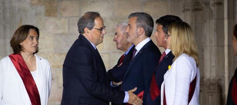 Manuel Valls niega el saludo a Quim Torra