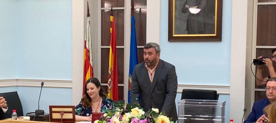 José Manuel Penalva, alcalde de Crevillent en el acto de constitución del Ayuntamiento.