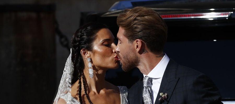El beso entre Pilar Rubio y Sergio Ramos