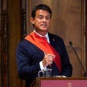Manuel Valls en el Ayuntamiento de Barcelona