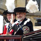 El rey Felipe VI, investido nuevo caballero de la Orden de la Jarretera