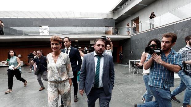 Geroa Bai preside el Parlamento navarro y el PSOE no impide a Bildu entrar en la Mesa