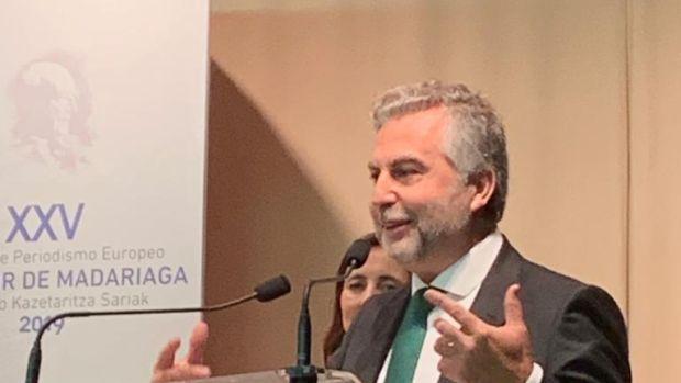 Discurso de agradecimiento de Carlos Alsina por el premio de periodismo Salvador de Madariaga