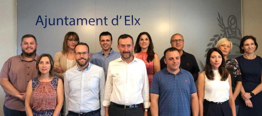 Concejales del Grupo Municipal del PSOE en el Ayuntamiento de Elche.