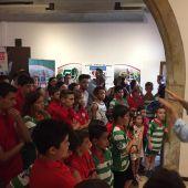 Acto de inauguración de la exposición sobre el 50 aniversario del Elche Club Rugby Unión