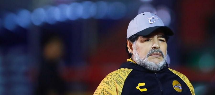 Diego Armando Maradona, durante un partido de Dorados