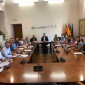 Reunión de la Junta de Gobierno del Ayuntamiento de Elche.