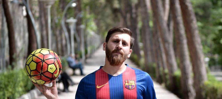 Reza Parastesh, el doble iraní de Messi