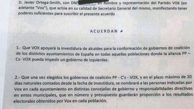 Acuerdo para la investidura de gobiernos municipales