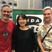 David Segovia (dcha), Tamiko Nakamura y Vidal Gamonal