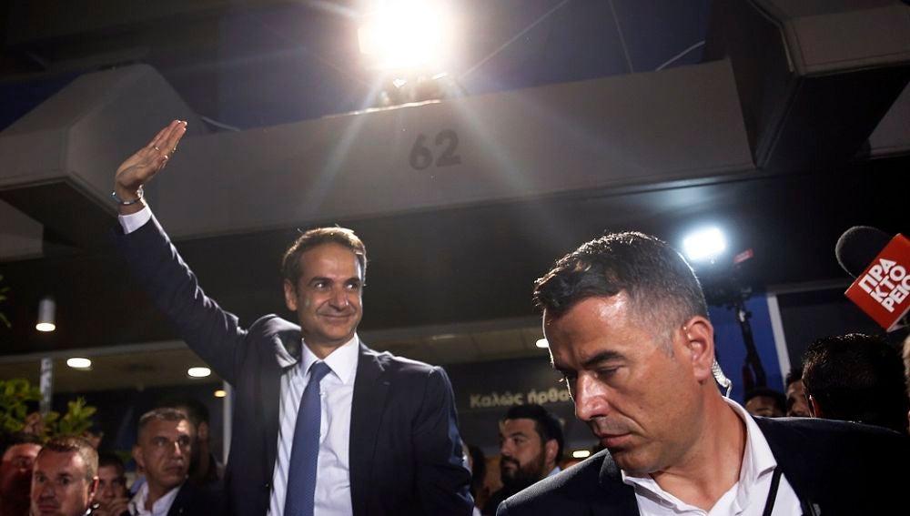 El líder de Nueva Democracia, Kyriakos Mitsotakis, tras ganar las elecciones en Grecia