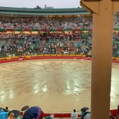 Plaza de Toros lloviendo