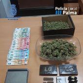 Algunas de las sustancias intervenidas en la operación policial.