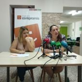 Marina González y Marian Campello durante el acto de presentación de la nueva ejecutiva.