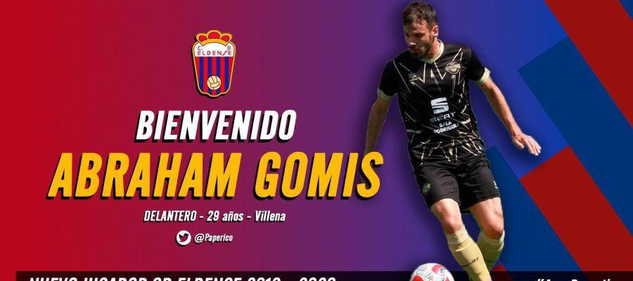 Cartel de presentación de Abraham Gomis como nuevo jugador azulgrana.