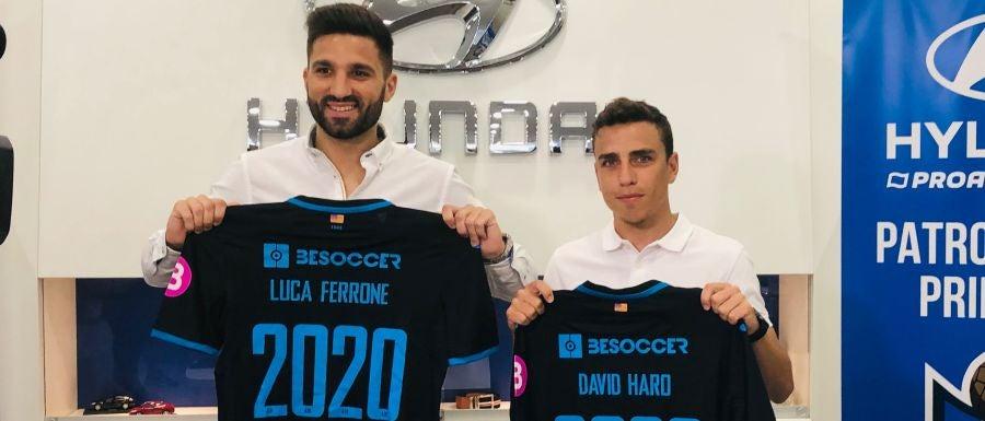 Luca Ferrone y David Haro, nuevos fichajes del Atlético Baleares