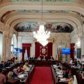 Salón de Plenos del Ayuntamiento de Málaga